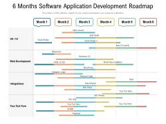 6 Months Software Application Development Roadmap Inspiration
