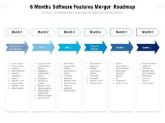 6 Months Software Features Merger Roadmap Sample