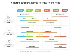 6 Months Strategy Roadmap For Trade Pricing Audit Formats