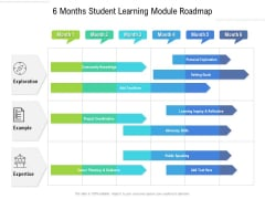 6 Months Student Learning Module Roadmap Icons