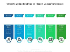 6 Months Update Roadmap For Product Management Release Sample