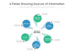 6 Petals Showing Sources Of Information Ppt PowerPoint Presentation Slides Visuals PDF