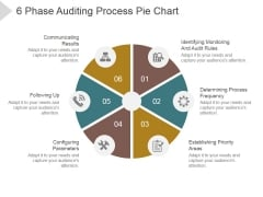 6 Phase Auditing Process Pie Chart Ppt PowerPoint Presentation Graphics