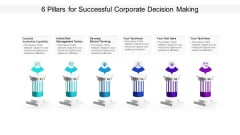 6 Pillars For Successful Corporate Decision Making Ppt PowerPoint Presentation Infographic Template Infographics PDF