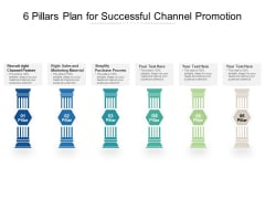 6 Pillars Plan For Successful Channel Promotion Ppt PowerPoint Presentation Icon Objects PDF