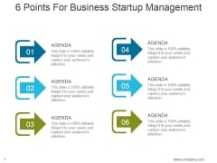 6 Points For Business Startup Management Ppt PowerPoint Presentation Professional
