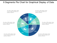 6 Segments Pie Chart For Graphical Display Of Data Ppt PowerPoint Presentation Portfolio Rules