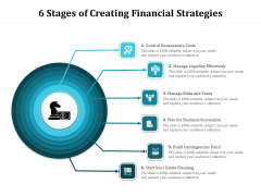 6 Stages Of Creating Financial Strategies Ppt PowerPoint Presentation Gallery Smartart PDF