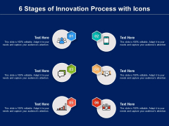 6 Stages Of Innovation Process With Icons Ppt PowerPoint Presentation File Gridlines PDF