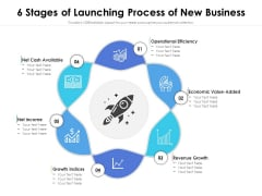 6 Stages Of Launching Process Of New Business Ppt PowerPoint Presentation File Icons PDF
