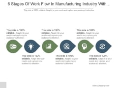 6 Stages Of Work Flow In Manufacturing Industry With Images Ppt PowerPoint Presentation Background Images