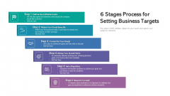 6 Stages Process For Setting Business Targets Ppt Outline Inspiration PDF