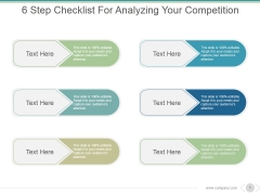 6 Step Checklist For Analyzing Your Competition Ppt PowerPoint Presentation Design Ideas