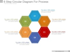 6 Step Circular Diagram For Process Ppt PowerPoint Presentation Template