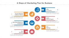 6 Steps Of Marketing Plan For Business Ppt PowerPoint Presentation File Diagrams PDF
