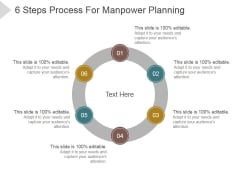 6 Steps Process For Manpower Planning Ppt PowerPoint Presentation Picture