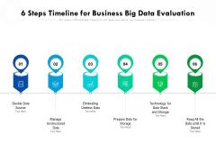 6 Steps Timeline For Business Big Data Evaluation Ppt PowerPoint Presentation File Images PDF
