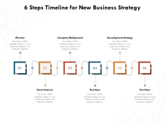 6 Steps Timeline For New Business Strategy Ppt PowerPoint Presentation File Design Inspiration PDF
