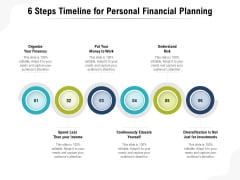 6 Steps Timeline For Personal Financial Planning Ppt PowerPoint Presentation Gallery Outfit PDF