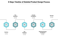 6 Steps Timeline Of Detailed Product Design Process Ppt PowerPoint Presentation File Template PDF