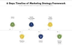 6 Steps Timeline Of Marketing Strategy Framework Ppt PowerPoint Presentation Gallery Deck PDF