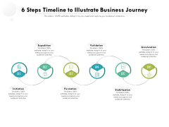 6 Steps Timeline To Illustrate Business Jouney Ppt PowerPoint Presentation File Information PDF