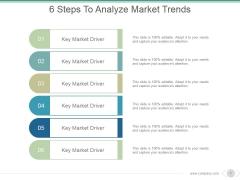 6 Steps To Analyze Market Trends Ppt PowerPoint Presentation Slides