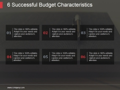 6 Successful Budget Characteristics Ppt PowerPoint Presentation Visuals