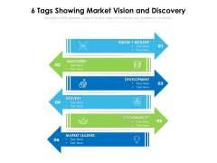6 Tags Showing Market Vision And Discovery Ppt PowerPoint Presentation File Slide PDF
