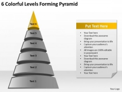 6 Colorful Levels Forming Pyramid Ppt Small Business Plan Software PowerPoint Templates