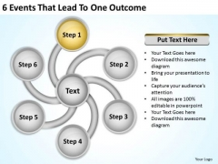 6 Events That Lead To One Outcome Creating Business Plan Free PowerPoint Templates