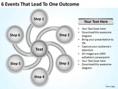 6 Events That Lead To One Outcome Nonprofit Business Plan Template PowerPoint Templates