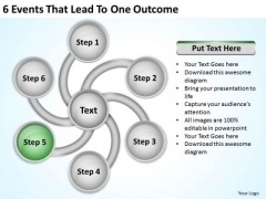 6 Events That Lead To One Outcome Ppt Executive Business Plan PowerPoint Templates