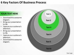6 Key Factors Of Business Process Ppt Plan PowerPoint Templates