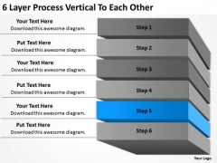 6 Layer Process Vertical To Each Other Ppt Record Label Business Plan PowerPoint Templates