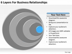6 Layers For Business Relationships Plans PowerPoint Templates