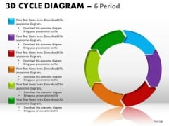6 Periods Cycle Diagrams PowerPoint Ppt Slides