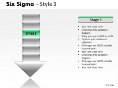 6 Stage Arrow Process Diagram PowerPoint Slides
