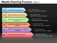 6 Stage Arrows Process Diagrams PowerPoint Slides