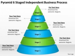 6 Staged Independent Business Process How Do You Write Plan PowerPoint Slides