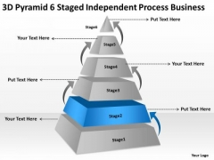 6 Staged Independent Process Business Ppt Plans Templates For Free PowerPoint Slides
