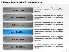 6 Stages Analysis And Implementation Ppt Business Plan Forms PowerPoint Slides