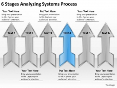 6 Stages Analyzing Systems Process Business Plan Company PowerPoint Templates