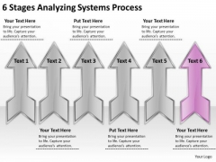 6 Stages Analyzing Systems Process Ppt Business Plans PowerPoint Slides