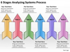 6 Stages Analyzing Systems Process Restaurant Business Plan Outline PowerPoint Templates