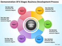 6 Stages Business Development Process Ppt Plan Outline PowerPoint Templates