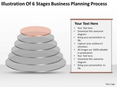 6 Stages Business Planning Process Ppt Record Label PowerPoint Templates
