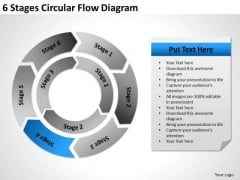 6 Stages Circular Flow Diagram Business Plan For PowerPoint Slides