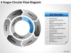 6 Stages Circular Flow Diagram Ppt Business Plan PowerPoint Slides