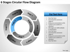 6 Stages Circular Flow Diagram Ppt Business Plan PowerPoint Templates